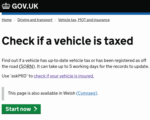 Vehicle Service Due Status Report Fresh is My Car Taxed How to Check Car Tax In 5 Steps or Less