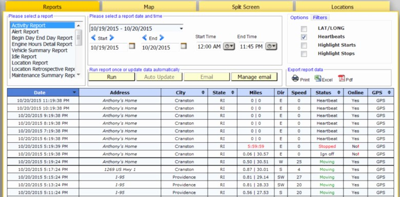 Vehicle Service Due Status Report Lovely Reports Boston Global Tracking Gps Fleet Management