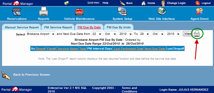 Vehicle Service Due Status Report New 3 Pm Due by Date