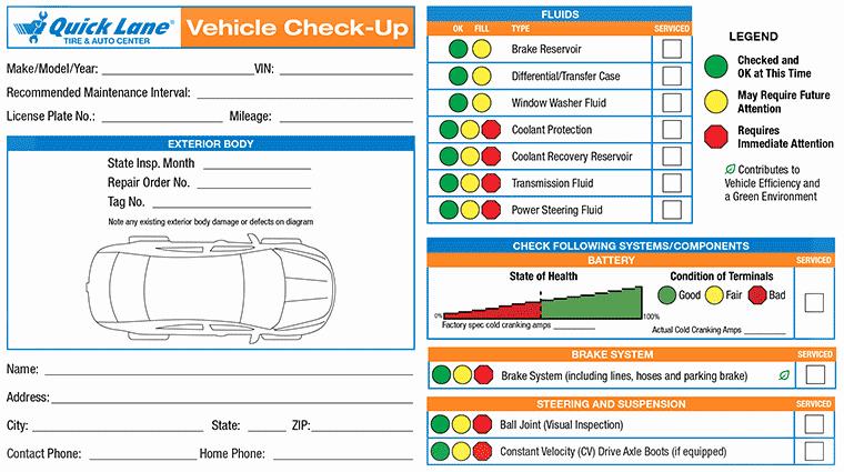 vehicle service due status report