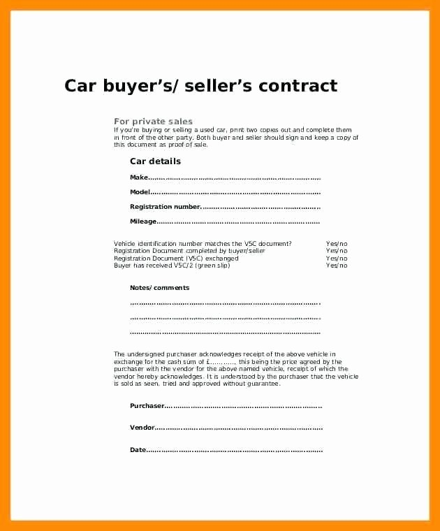 Vehicle sold as is Template Best Of Car Sale Agreement Word Doc Ideal sold as Seen Receipt
