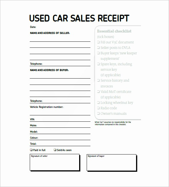 Vehicle sold as is Template Inspirational 13 Car Invoice Template Free Sample Example format