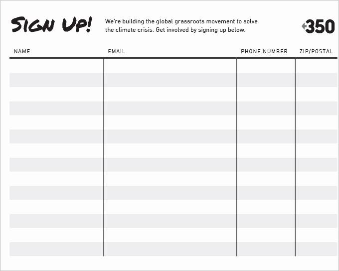 Volunteer Sign Up form Template Elegant Sign Up Sheets 58 Free Word Excel Pdf Documents