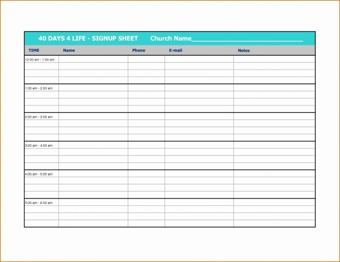 Volunteer Sign Up form Template Luxury Sign Up Calendar Template