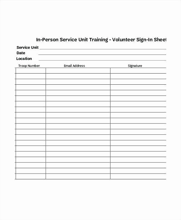 Volunteer Sign Up form Template Luxury Volunteer Sheet Munity Service Hours Template form