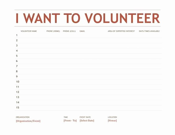 Volunteer Sign Up form Template Unique Volunteer Sign Up Sheet Templates 2 S
