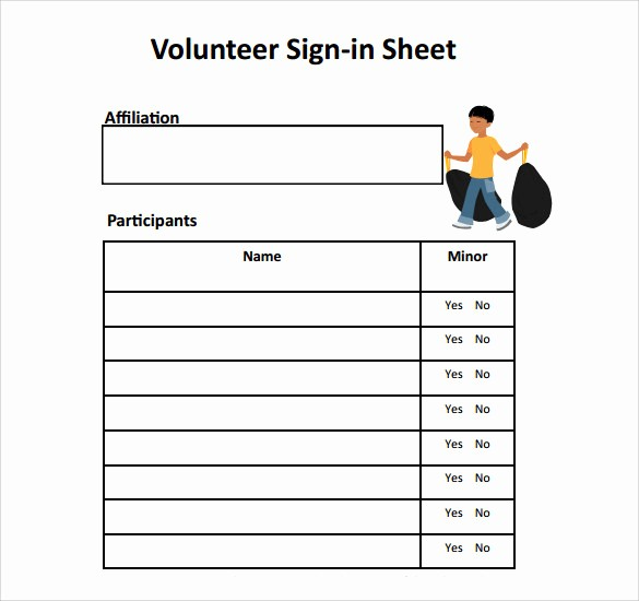 Volunteer Sign Up Sheet Printable Beautiful Sign In Sheet Template 21 Download Free Documents In