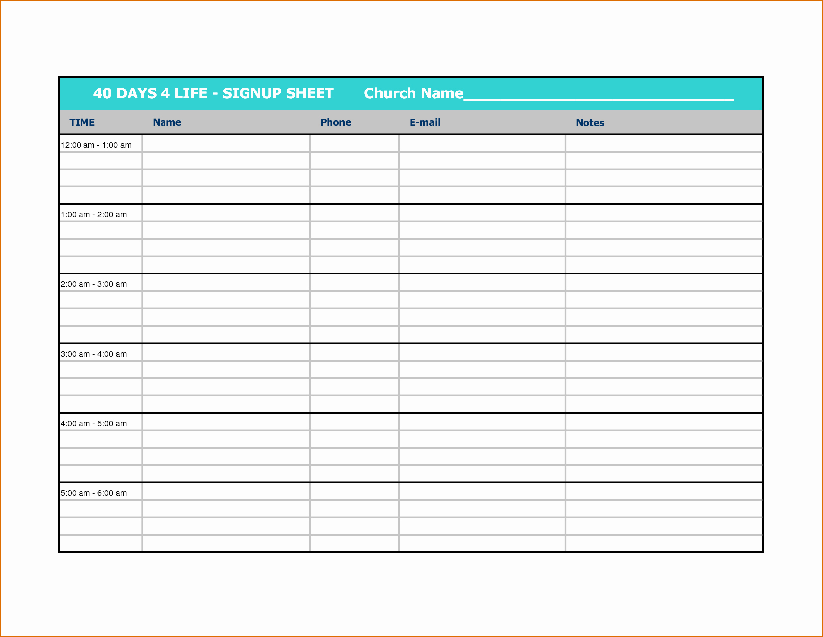 Volunteer Sign Up Sheet Printable Luxury 10 Volunteer Sign Up Sheet Template