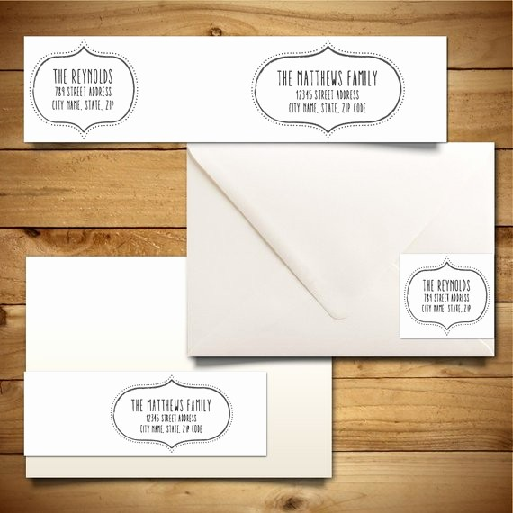 Wedding Address Labels Template Free Beautiful Items Similar to Printable Address Label Template for A7