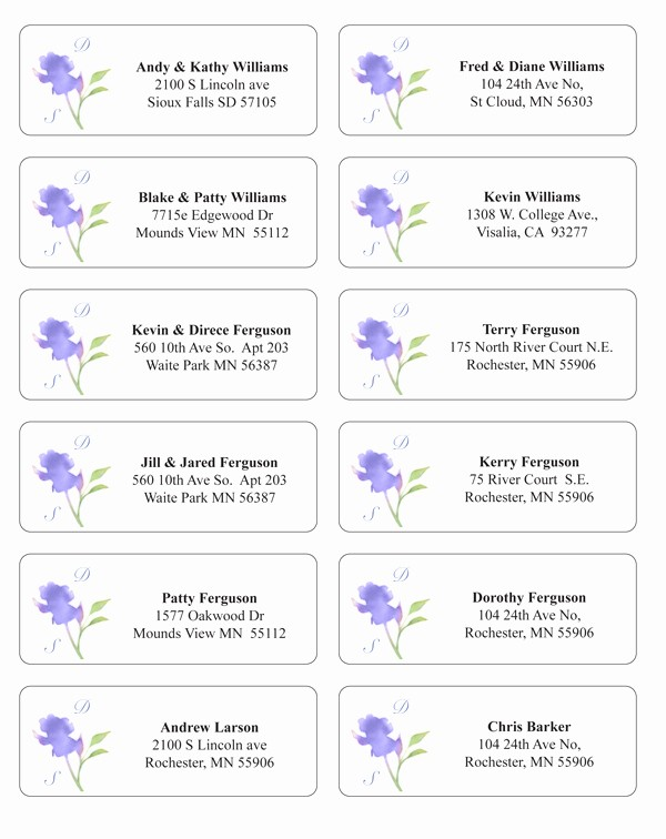 Wedding Address Labels Template Free Beautiful Make Envelope Addressing Easier and Extra Stylish