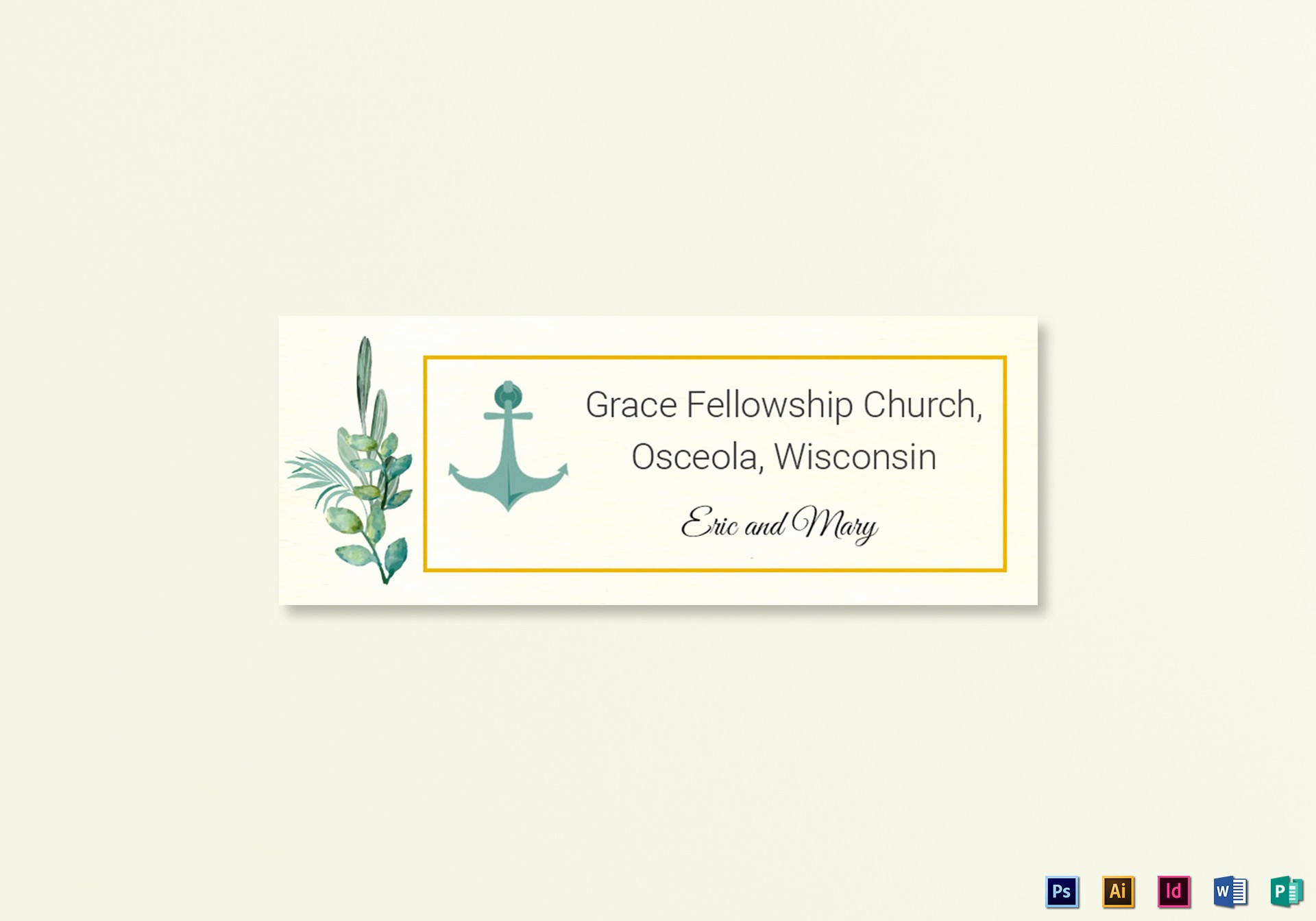 Wedding Address Labels Template Free Best Of Nautical Wedding Address Labels Card Template In Psd Word