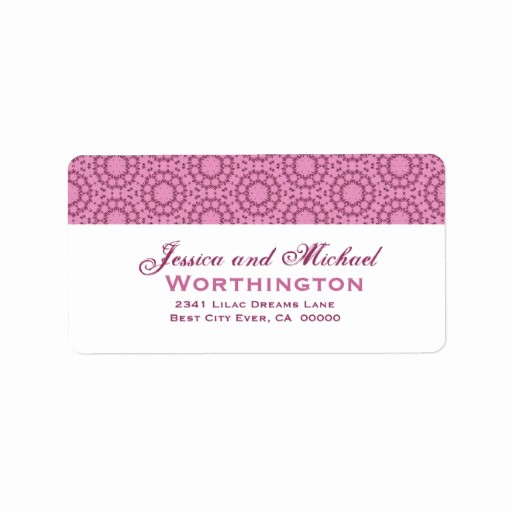 Wedding Address Labels Template Free Fresh Pink Circle Flowers Wedding Template Address Label