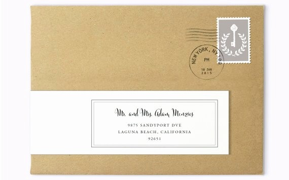 Wedding Address Labels Template Free Lovely Wrap Around Labels Printable Address Labels Wedding