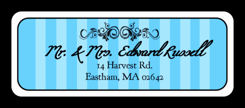 Wedding Address Labels Template Free Luxury Madison Avenue Sky Blue Wedding Address Label Label