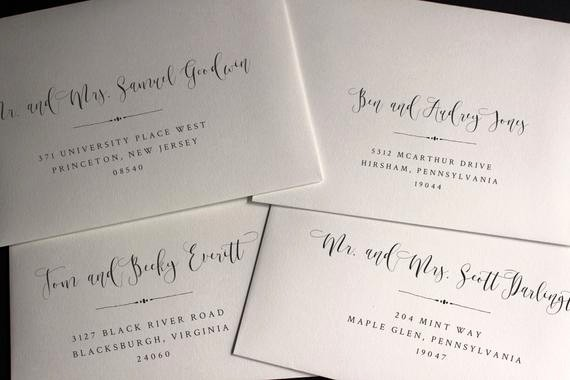 Wedding Address Labels Template Free New Envelope Template Envelope Address Template Wedding