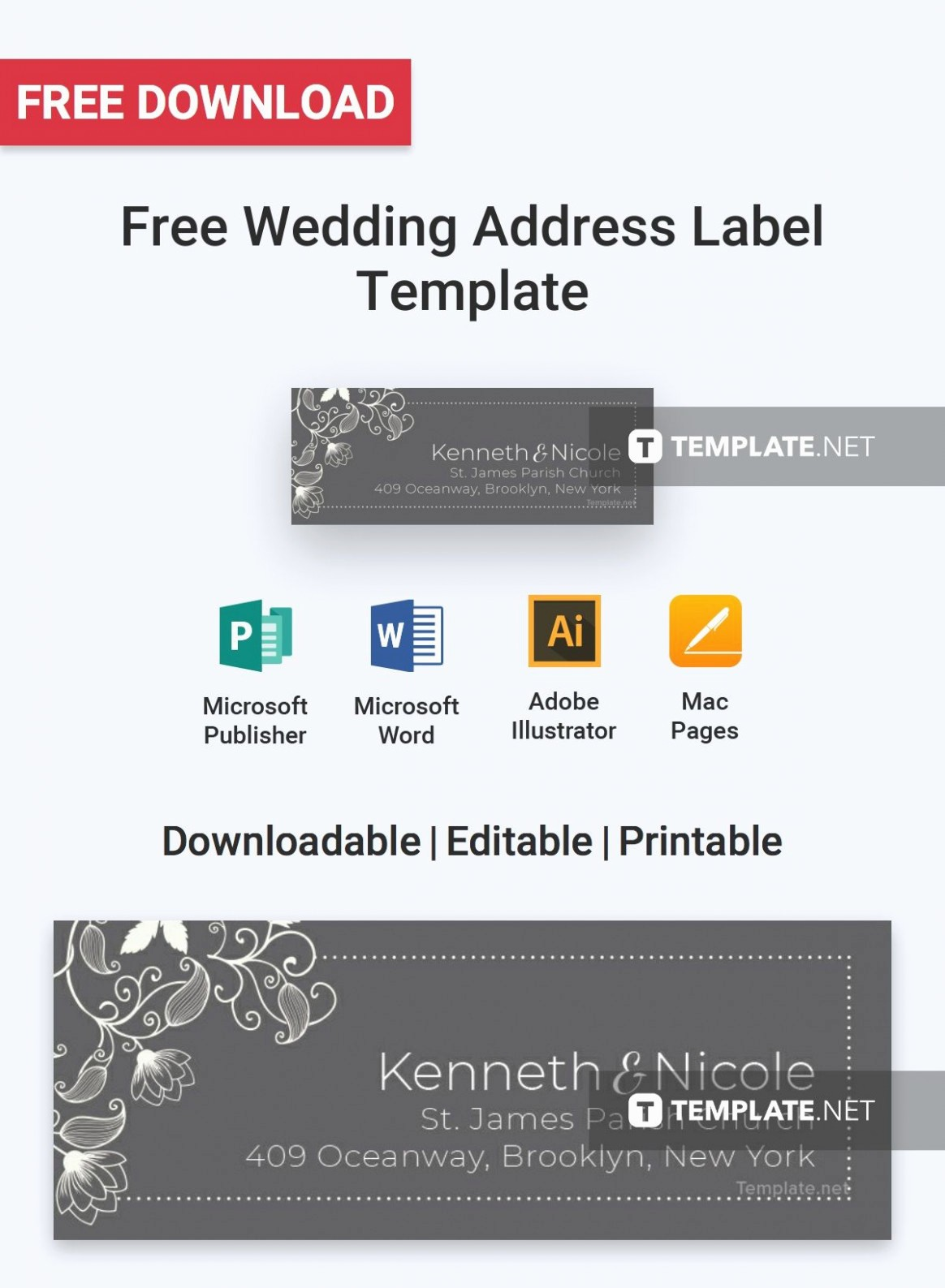 Wedding Address Labels Template Free New the Biggest Contribution