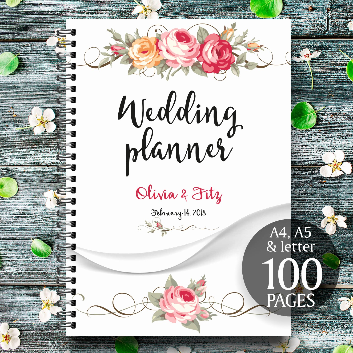 Wedding Binder Cover Page Template Inspirational Floral Printable Wedding Planner Wedding Printable Binder