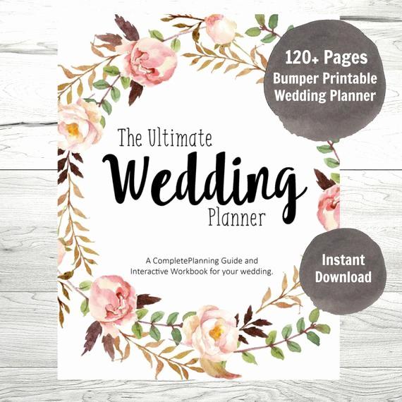 Wedding Binder Cover Page Template Lovely Wedding Planner Printable Wedding Binder Diy Planning