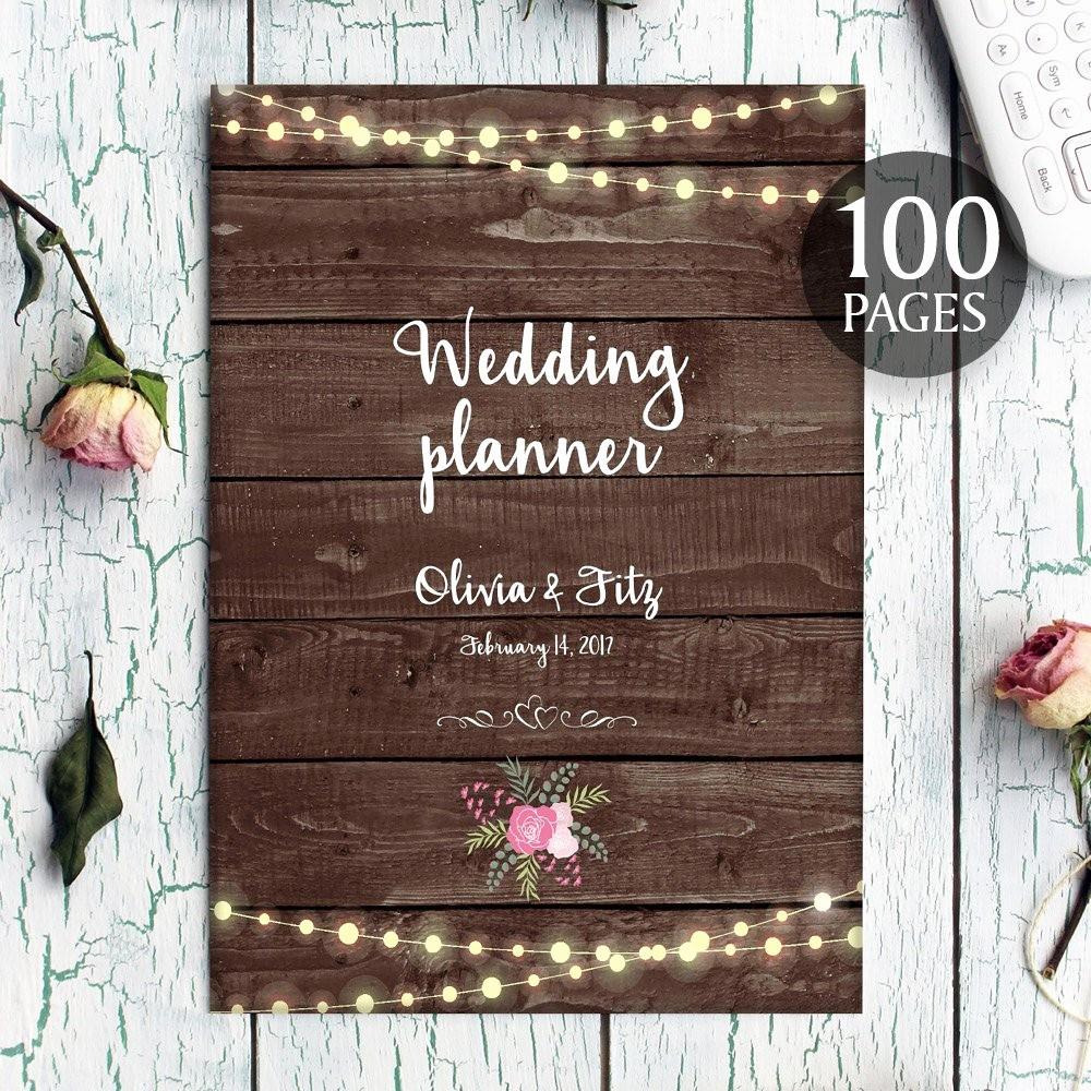 Wedding Binder Cover Page Template Unique Printable Wedding Planner Instant Wedding