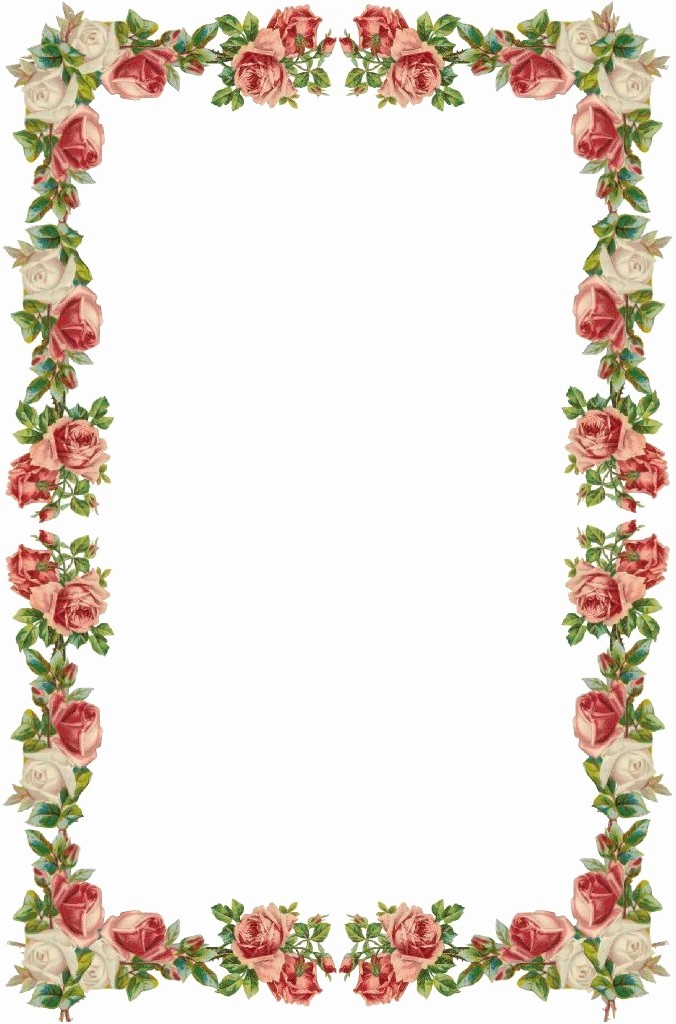 Wedding Borders for Microsoft Word Beautiful Floral Borders Clipart Clipground