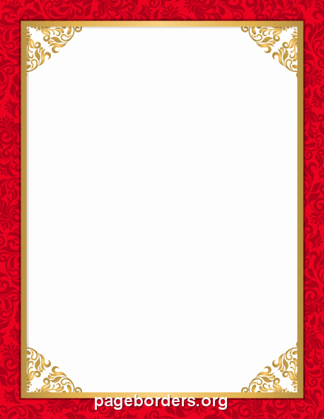 Wedding Borders for Microsoft Word Beautiful Red Wedding Border Clip Art Page Border and Vector Graphics