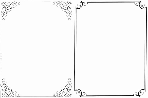 Wedding Borders for Microsoft Word Elegant 200 Free Vintage ornaments Frames and Borders