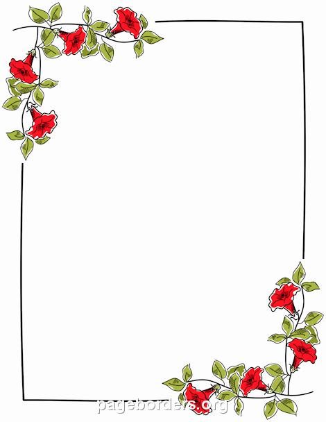 Wedding Borders for Microsoft Word Fresh Flowers Borders Png Transparent Flowers Borders Png