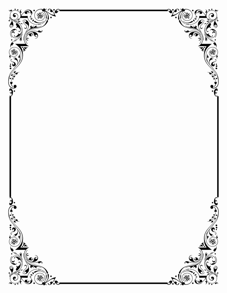 Wedding Borders for Microsoft Word Lovely Shop Clipart Wedding Page Border Pencil and In