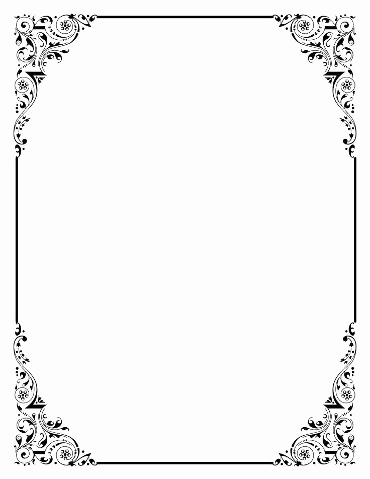 Wedding Borders for Microsoft Word Luxury Page Border Template for Word Portrait Borders 1 Insert