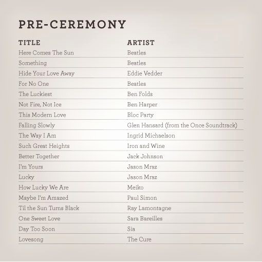Wedding Ceremony song List Template Awesome Good Music for when the Guest are Ting Seated