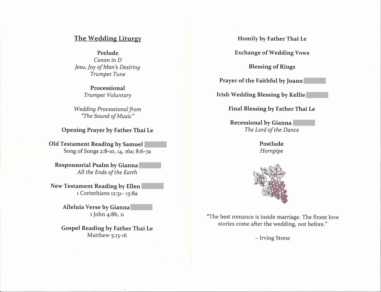 Wedding Ceremony song List Template Inspirational Bicoastal Bride May 2010