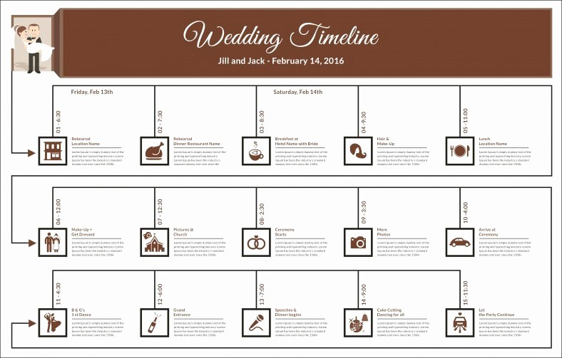 Wedding Day Timeline Template Free Awesome 31 Wedding Timeline Templates Psd Ai Eps Pdf Word