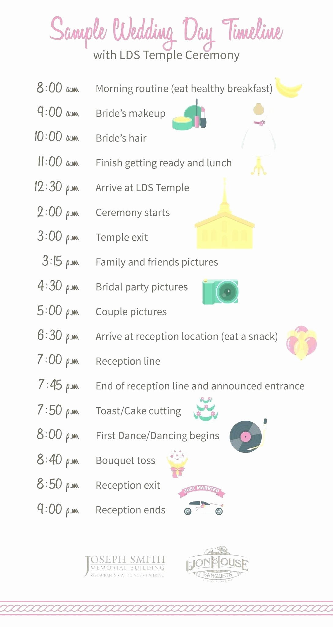 Wedding Day Timeline Template Free Awesome Wedding Timeline Template Day