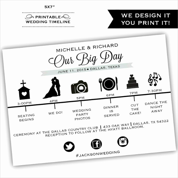 Wedding Day Timeline Template Free Beautiful 29 Wedding Timeline Template Word Excel Pdf Psd