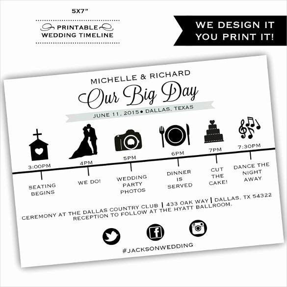 Wedding Day Timeline Template Free Beautiful 29 Wedding Timeline Template Word Excel Pdf Psd