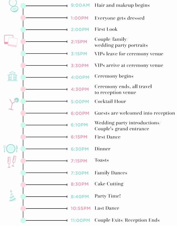 Wedding Day Timeline Template Free Beautiful Personal Timeline Template Word Family History Free Blank