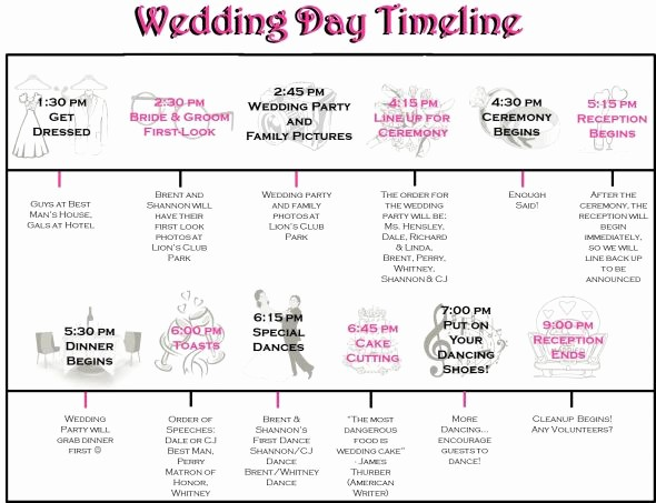 Wedding Day Timeline Template Free Beautiful Wedding Day Timeline Template