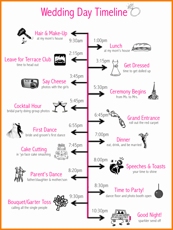 Wedding Day Timeline Template Free Fresh 6 Wedding Day Timeline Template Free