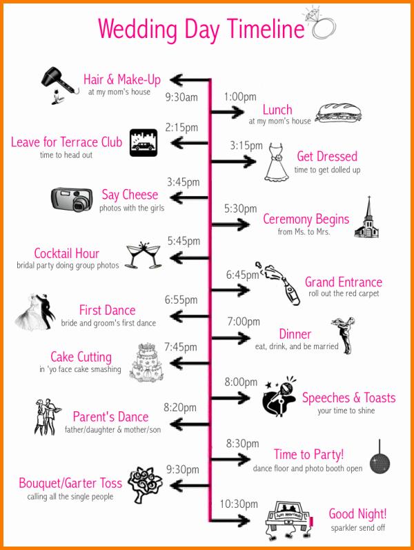 Wedding Day Timeline Template Free Fresh 6 Wedding Day Timeline Template Free