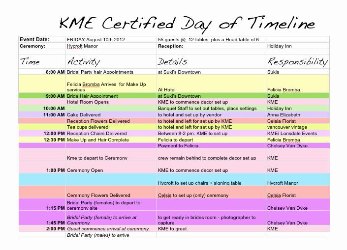Wedding Day Timeline Template Free Luxury Wedding Day Timeline Template