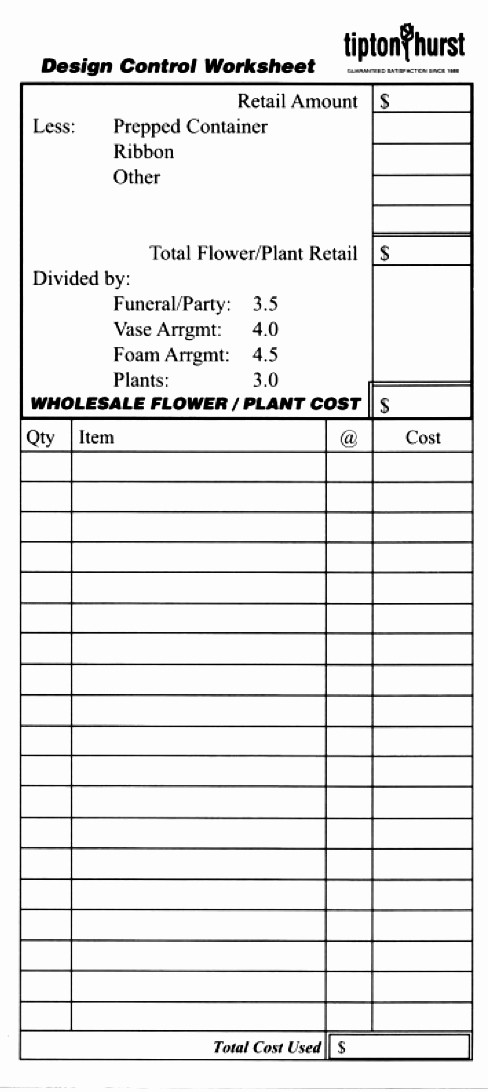 Wedding Flowers order form Template Beautiful Wedding List Template