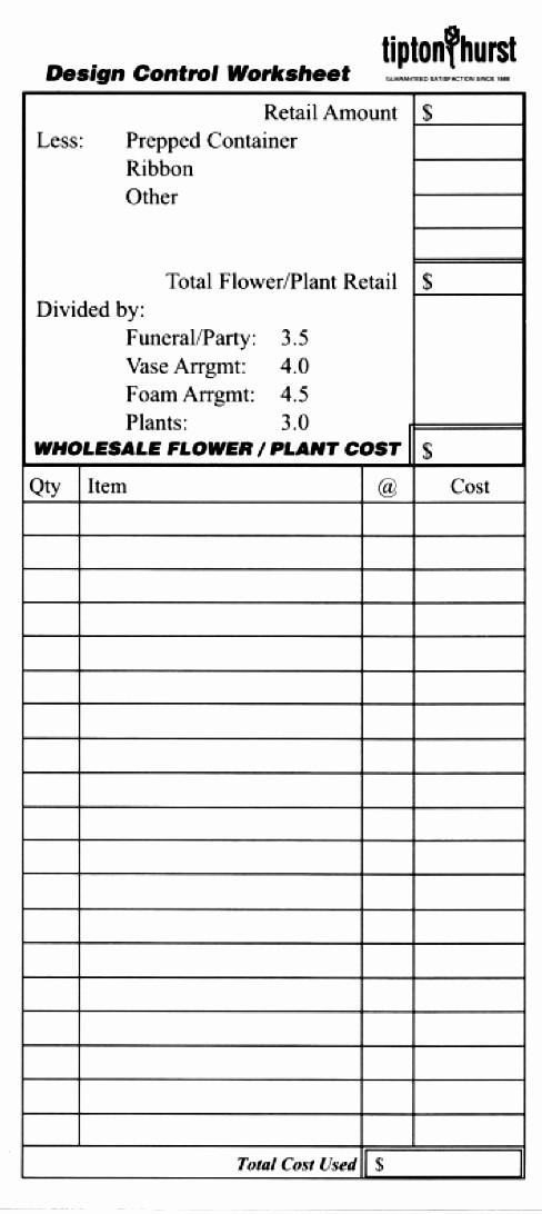 Wedding Flowers order form Template Beautiful Wedding List Template