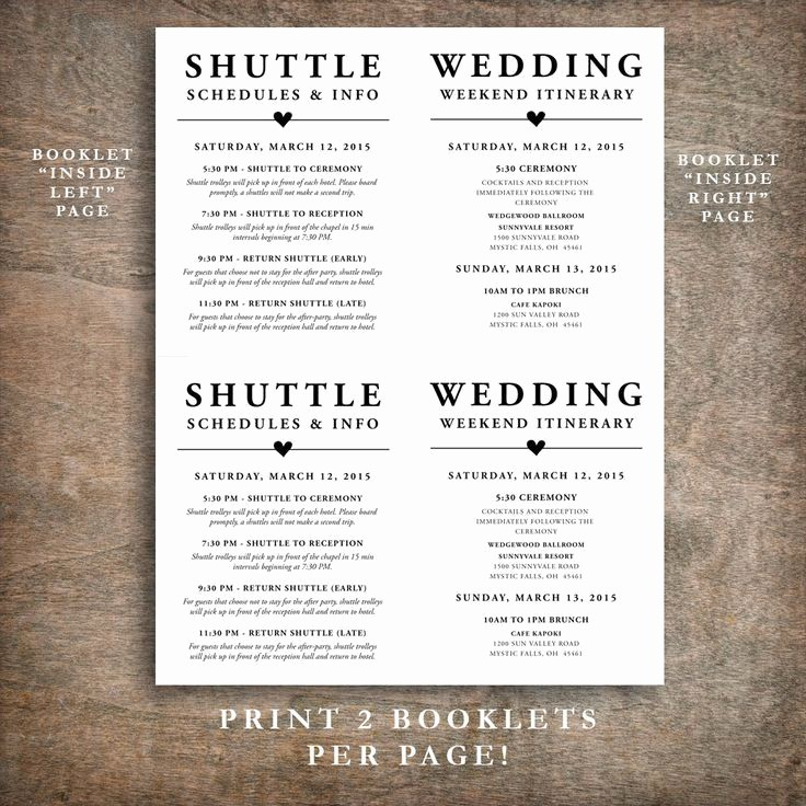 Wedding Guest List Print Out Beautiful 1000 Ideas About Wedding Itineraries On Pinterest