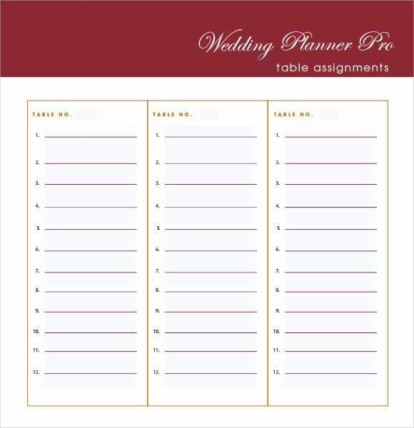Wedding Guest List Print Out Luxury Wedding Guest List Template – 7 Free Samples Examples