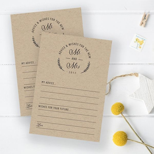 Wedding Guest List Print Out New Free Printable Advice Cards for Your Wedding Guests to