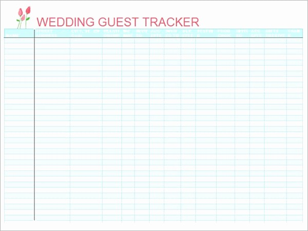 Wedding Guest List Printable Template Inspirational top 5 Resources to Get Free Wedding Guest List Templates