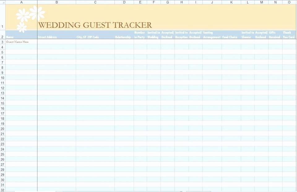 Wedding Guest List Spreadsheet Excel Best Of Template Wedding Guest List Excel Spreadsheet Template