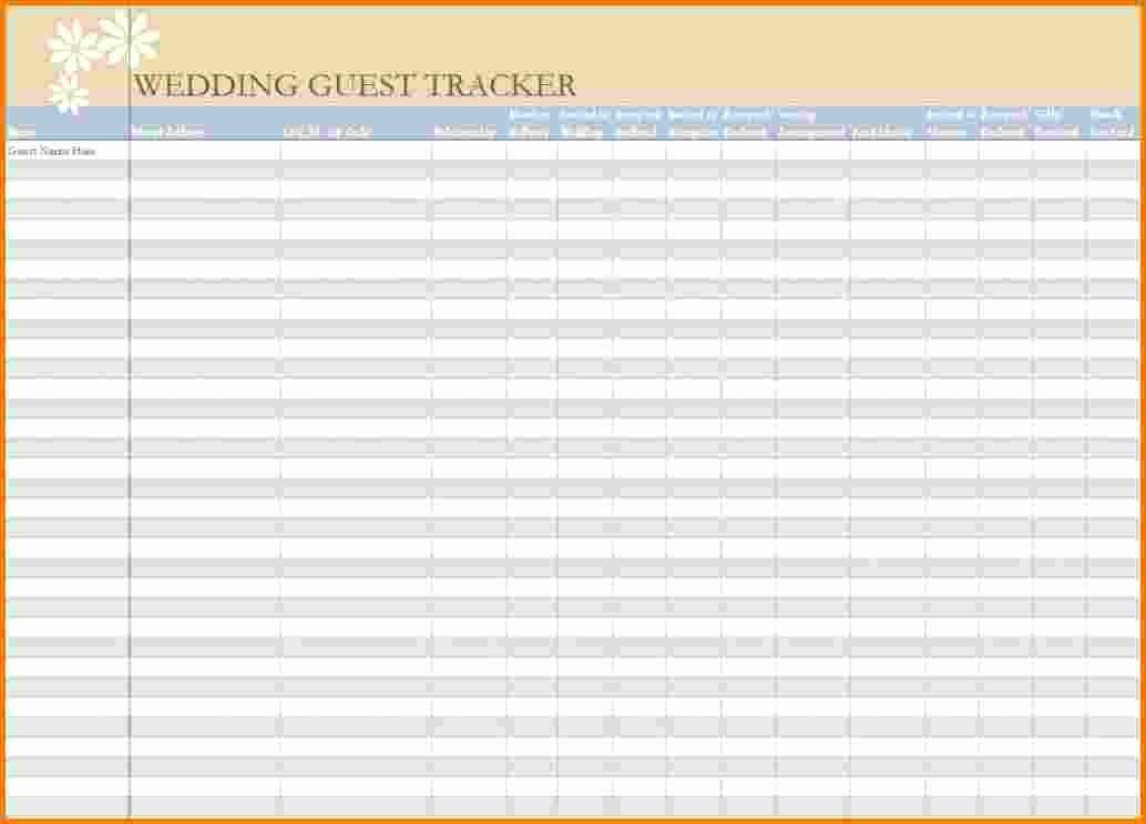 Wedding Guest List Spreadsheet Excel Fresh 4 Wedding Guest List Excel