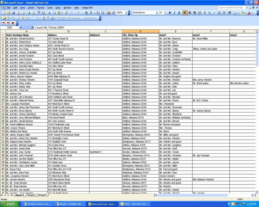 Wedding Guest List Spreadsheet Excel Fresh Wedding Ideas & Advice Your Wedding Guest Lists