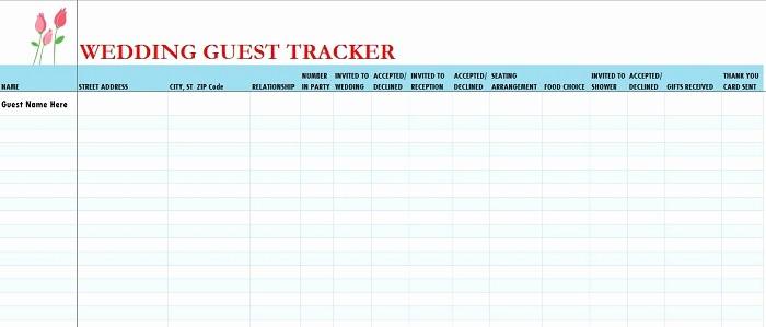 Wedding Guest List Spreadsheet Excel Inspirational 17 Wedding Guest List Templates Excel Pdf formats